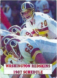 1987 Frito Lay Redskins Schedules