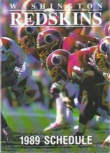 1989 Mobil Redskins Schedules