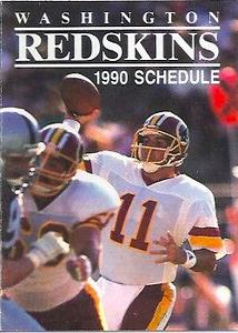 1990 Mobil Redskins Schedule
