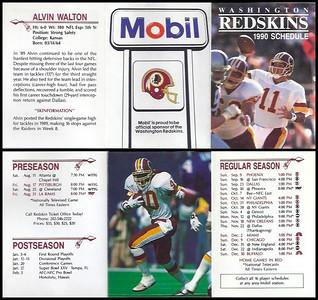 Alvin Walton 1990 Mobil Redskins Schedule