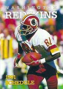 1991 Mobil Redskins Schedules Cover