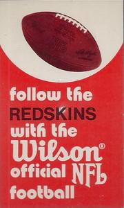 1973 Wilson Redskins Schedule