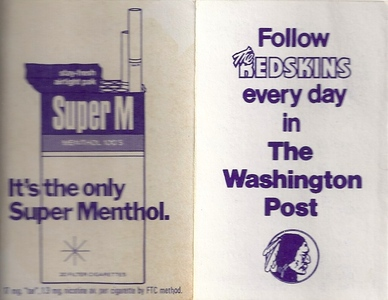 1974 Washington Post Redskins Schedule