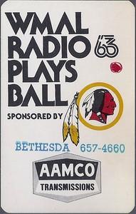 1976 AAMCO Redskins Schedule