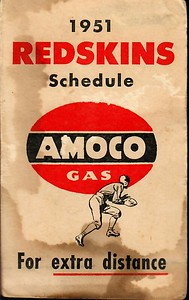 1951 AMOCO Redskins Schedule