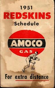 1951 AMOCO Redskins Schedule
