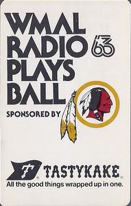 1977 TastyKake Redskins Schedule