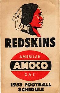 1953 AMOCO Redskins Schedule