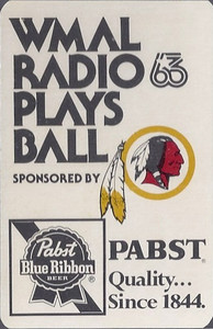 1976 Pabst Redskins Schedule