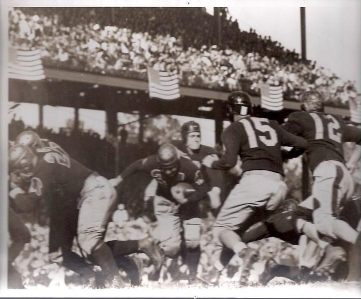 1938 Press Photo Redskins vs. Cleveland Rams