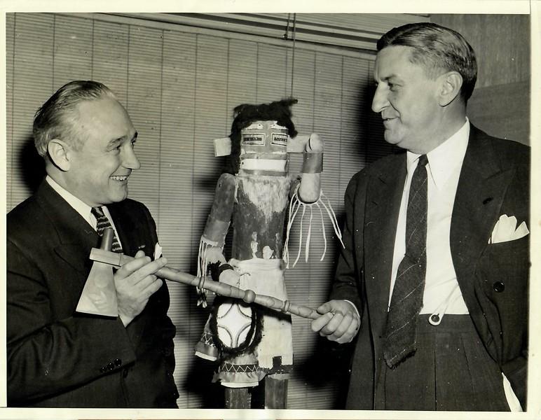 Dutch Bergman and George Marshall Redskins Press Photo