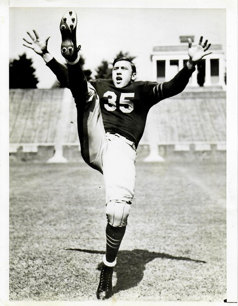 Bill Dudley 1940s University of Virginia Football  Press Photo
