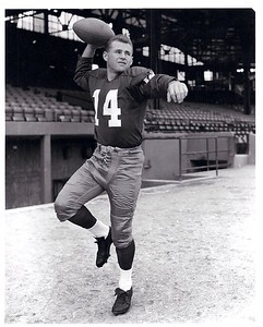 Eddie LeBaron 1950s Redskins Team Issue Photo
