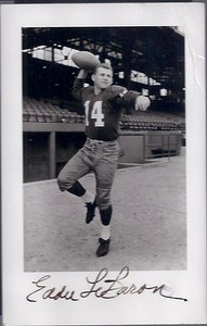 Eddie LeBaron 1957 Redskins Team Issue Real Picture Postcard