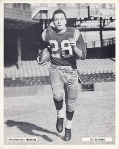 Joe Scudero 1957 Redskins Team Issue Photo