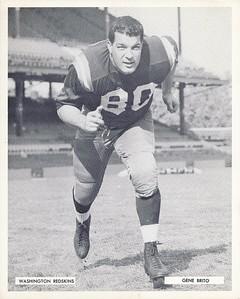 Gene Brito 1957 Redskins Team Issue Photo