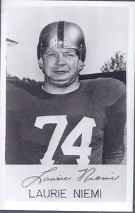 Laurie Niemi 1953 Redskins Team Issue Real Picture Postcard