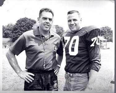 Coach Otto Graham and Sam Huff 1967 Redskins Team Issue Photo