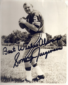 1960s Redskins Team Issue Sonny Jurgensen