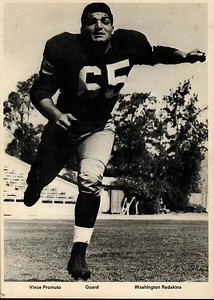 Vince Promuto 1960s Redskins Team Issue Photo
