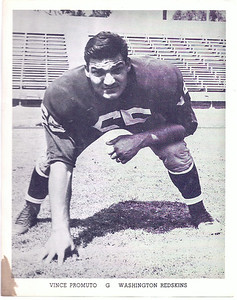 1962 Redskins Team Issue Photo Vince Promuto