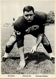 Ron Snidow 1960s Redskins Team Issue Photo 5x7