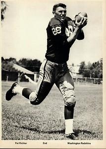 Pat Richter 1960s Redskins Team Issue Photo 5x7