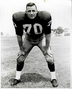 Sam Huff 1960s Redskins Team Issue Photo