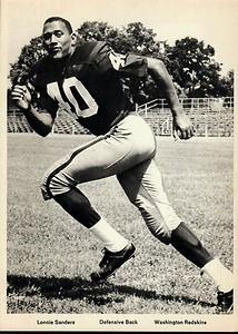 Lonnie Sanders 1960s Redskins Team Issue Photo 5x7