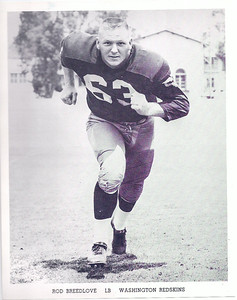 1962 Redskins Team Issue Photo Rod Breedlove