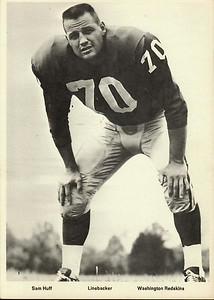 Sam Huff 1960s Redskins Team Issue Photo 5x7