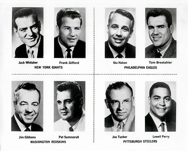 1960s CBS Redskins Announcers