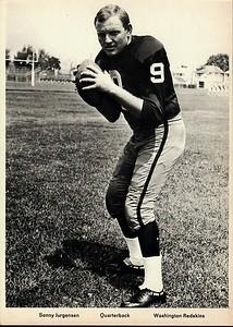 Sonny Jurgensen 1960s Redskins Team Issue Photo 5x7