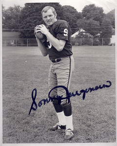 1969 Redskins Team Issue Photo Sonny Jurgensen
