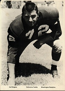 Joe Rutgens 1960s Redskins Team Issue