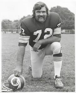 Diron Talbert 1972 Redskins Team Issue Photo