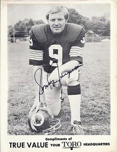Sonny Jurgensen 1972 True Value Hardware Promo Redskins Photo