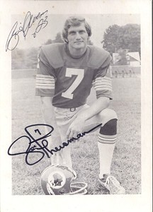 Joe Theismann 1974 Redskins Team Issue Photo
