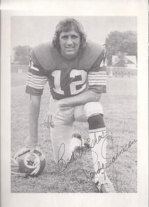Randy Johnson 1975 Redskins Team Issue Photo