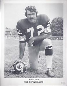 Diron Talbert 1972 Redskins Team Issue Picture Pack Photo