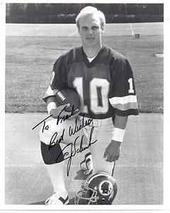 Jay Schroeder 1987 Redskins Team Issue Photo