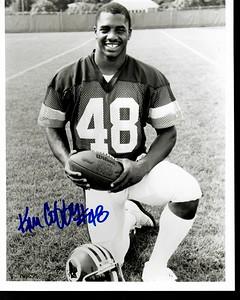 Ken Coffey 1980s Redskins Team Issue Photo