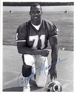 Charles Mann 1987 Redskins Team Issue Photo