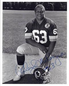 Raleigh McKenzie 1987 Redskins Team Issue Photo