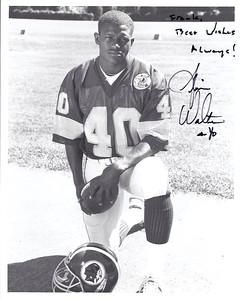 Alvin Walton 1987 Redskins Team Issue Photo