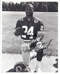 Kelvin Bryant 1987 Redskins Team Issue Photo