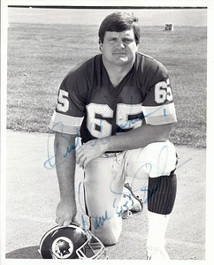 Dave Butz 1987 Redskins Team Issue Photo
