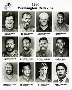 1990 Redskins Player Sheets- Bostic to Elewonibi