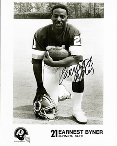 1991 Redskins Team Issue Photo Earnest Byner