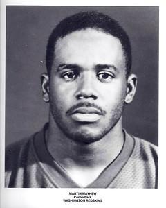 Martin Mayhew 1991 Redskins Team Issue